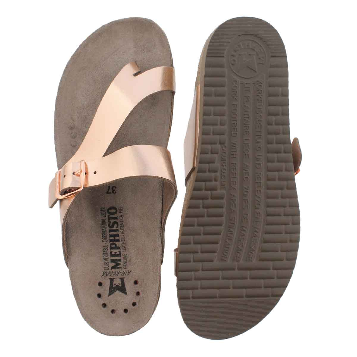 Lds Helen pink star cork footbed