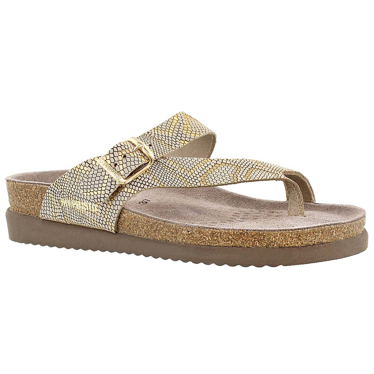Women's HELEN camel nairobi cork footbed thongs