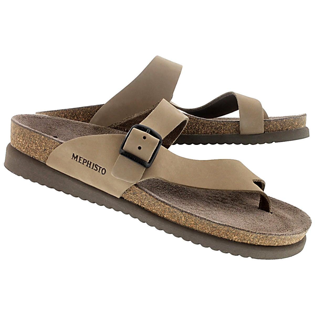 Lds Helen light beige cork footbed thong