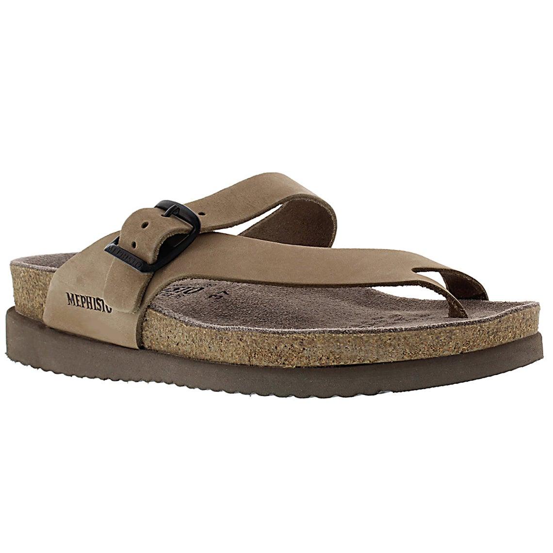 Women's HELEN light beige thong sandals