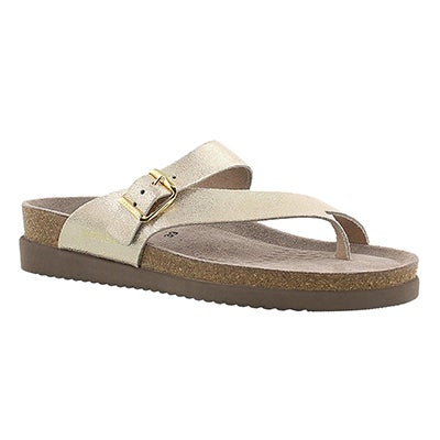 Mephisto Women's HELEN platinum cork footbed thong sandals