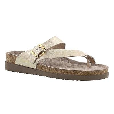 Lds Helen platinum cork footbed thong
