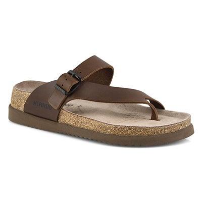 Lds Helen Plus brown footbed sandal