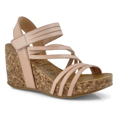 Lds Helm blush casual wedge sandal