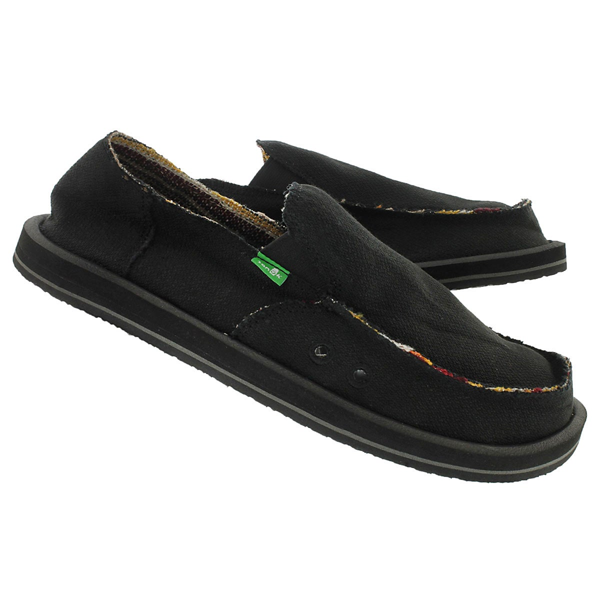 Mns Hemp black slip on shoe