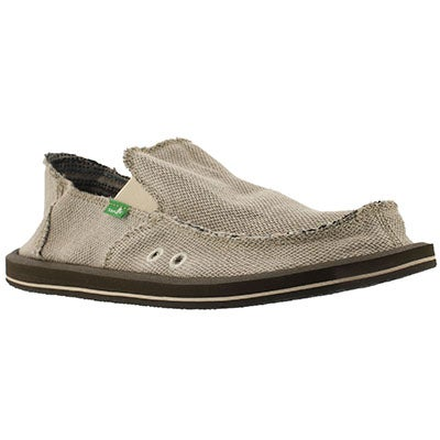 Sanuk Men's HEMP natural slip on shoes