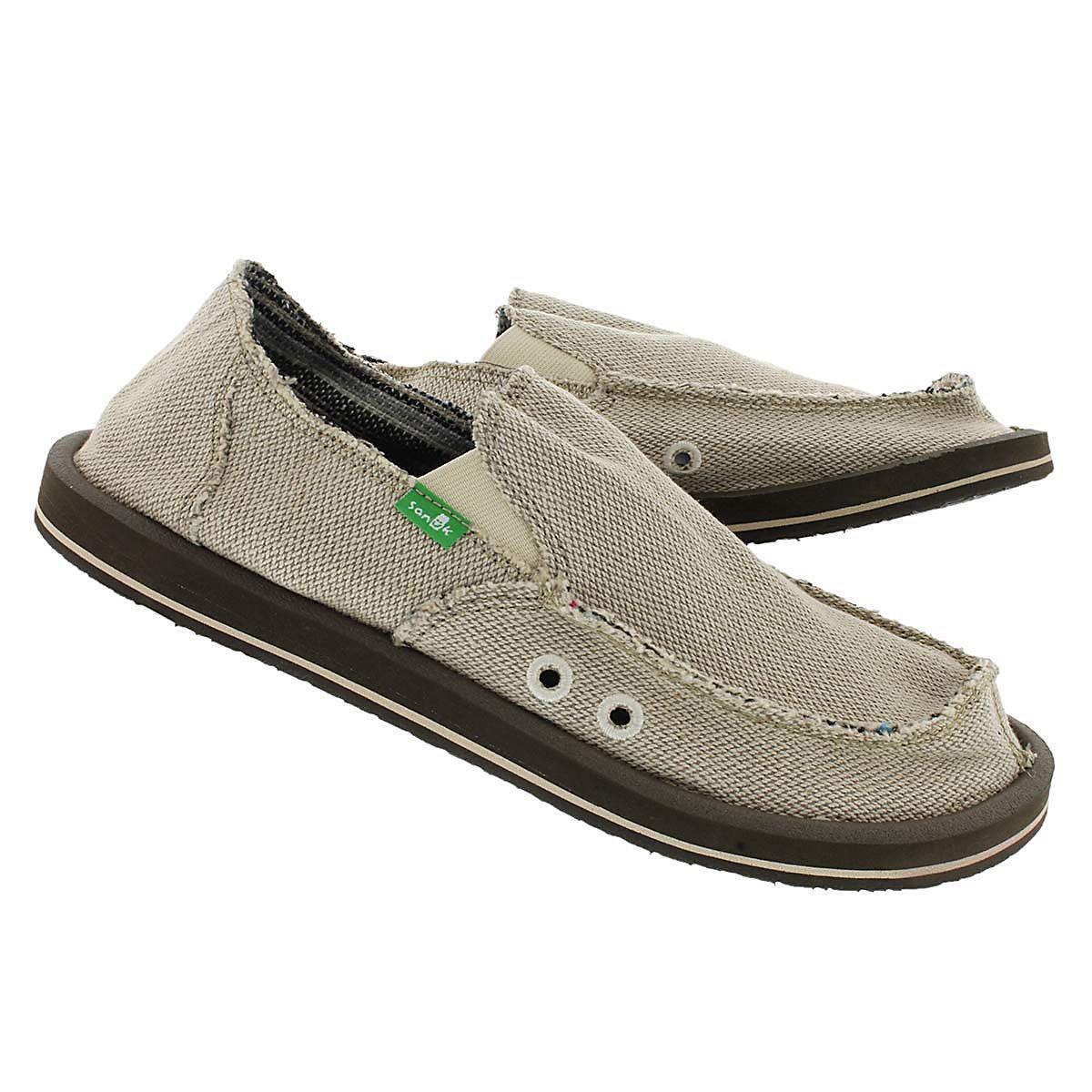 Mns Hemp natural slip on shoe
