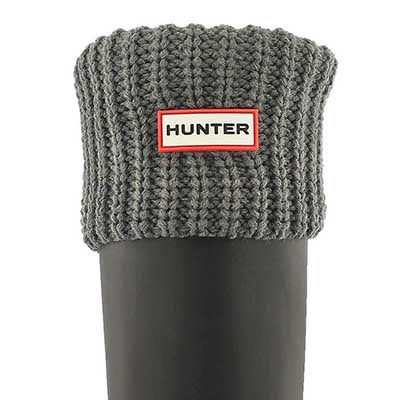 Hunter Women's HALF CARDIGAN slate boot socks