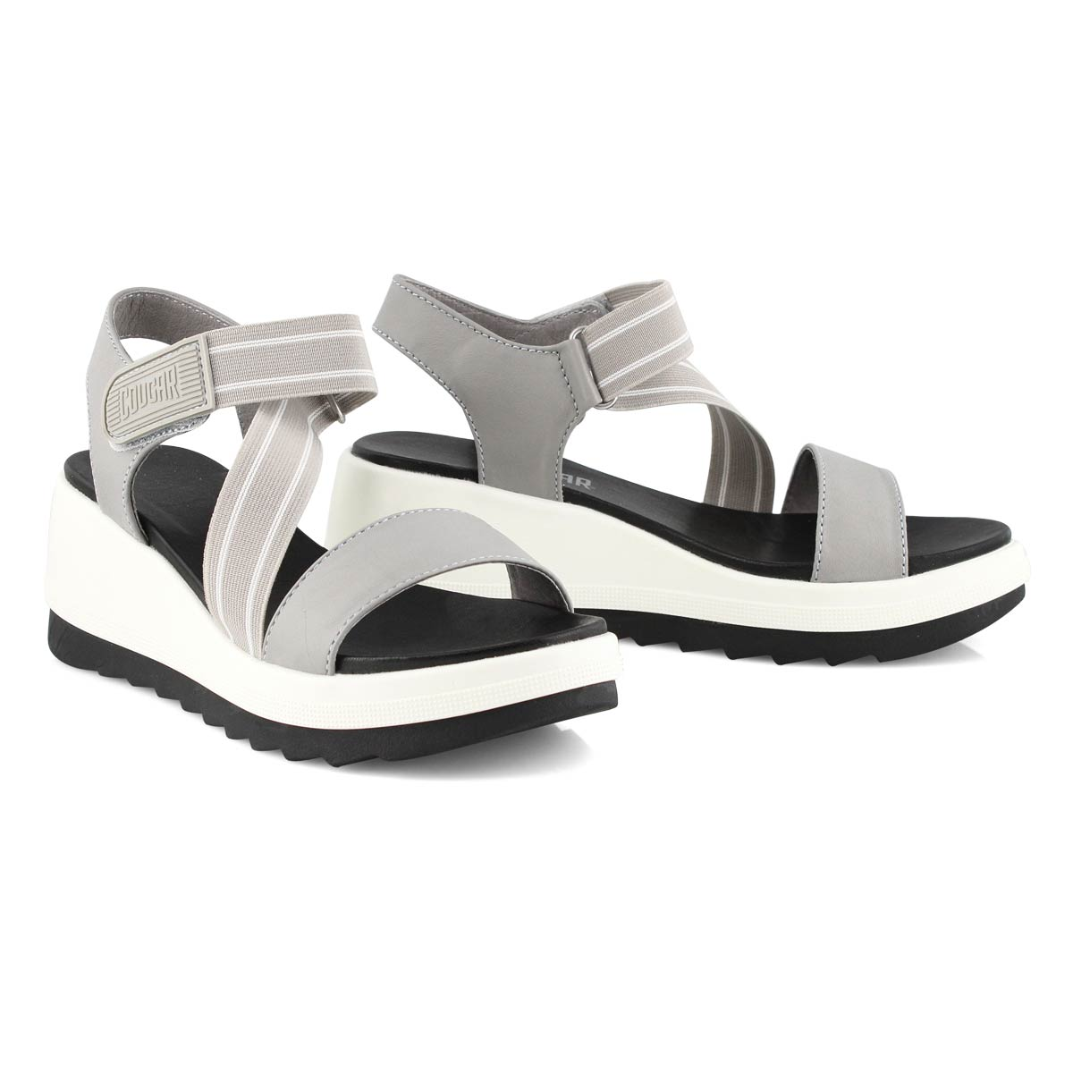 Lds Hibiscus fossil wedge sandal