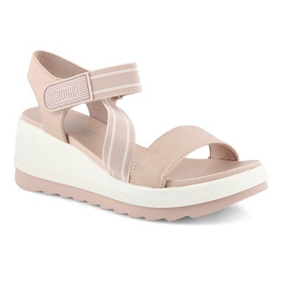 Lds Hibiscus shell wedge sandal