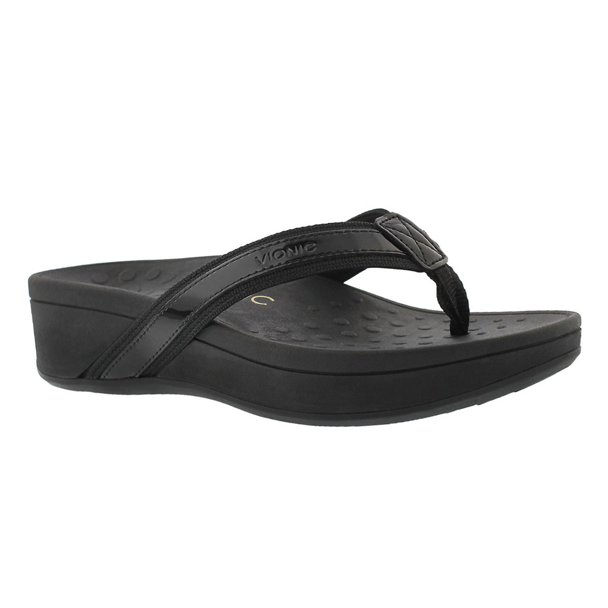 Women's HIGH TIDE black arch support wedge sandals