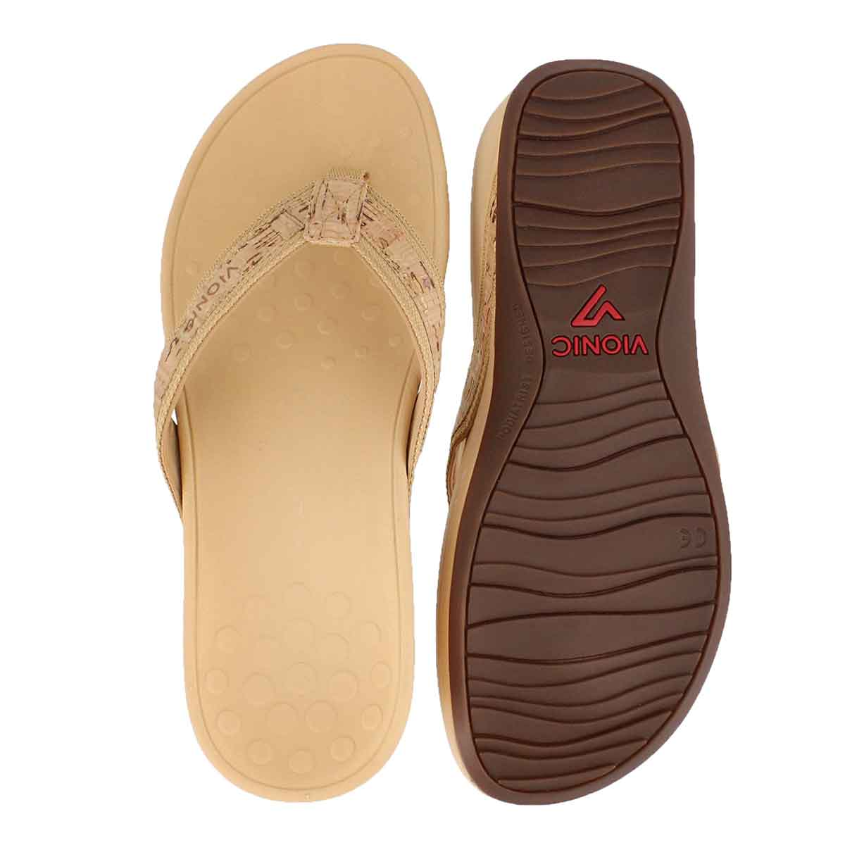 Lds High Tide gold arch support wdg sndl