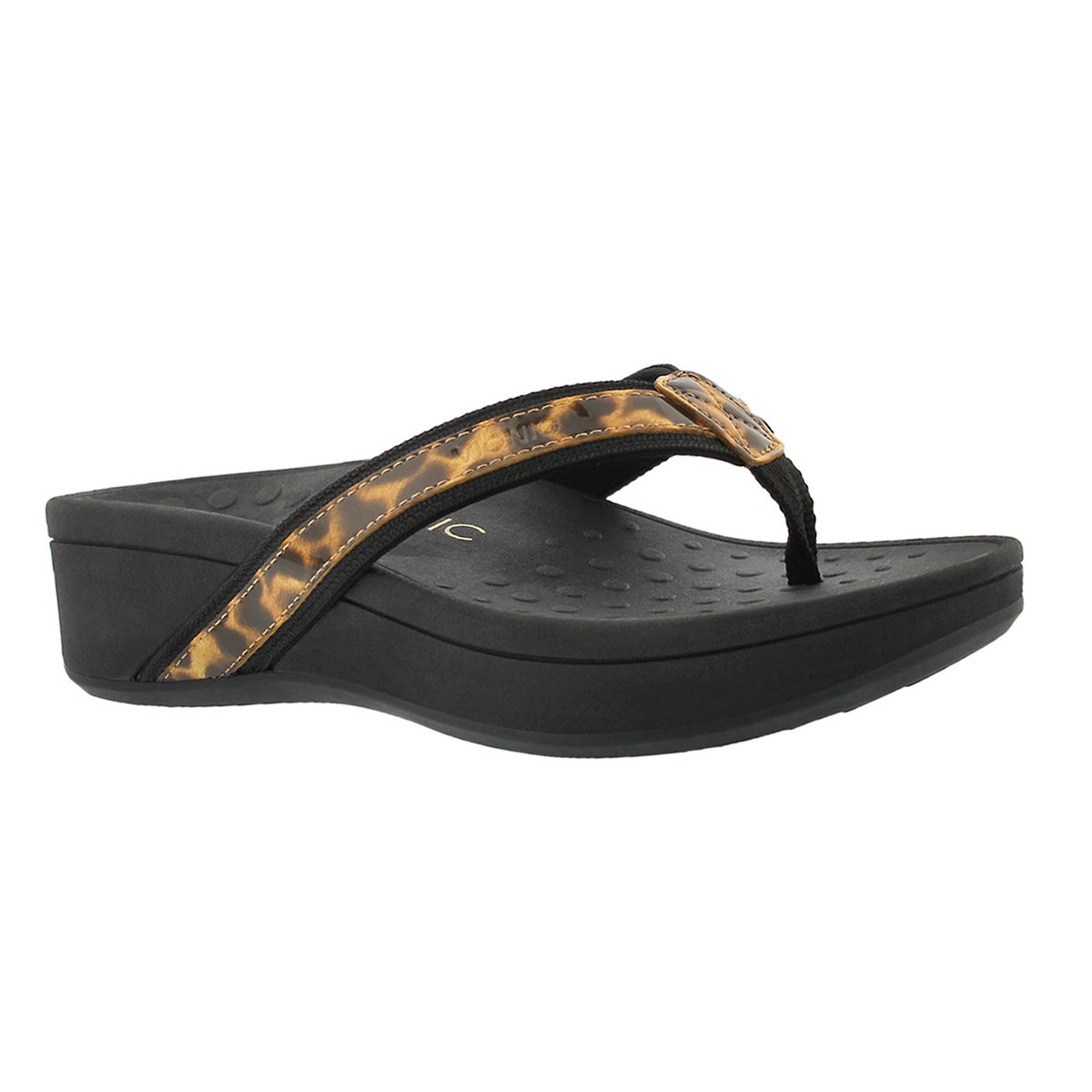Women's HIGH TIDE leopard arch support sandals