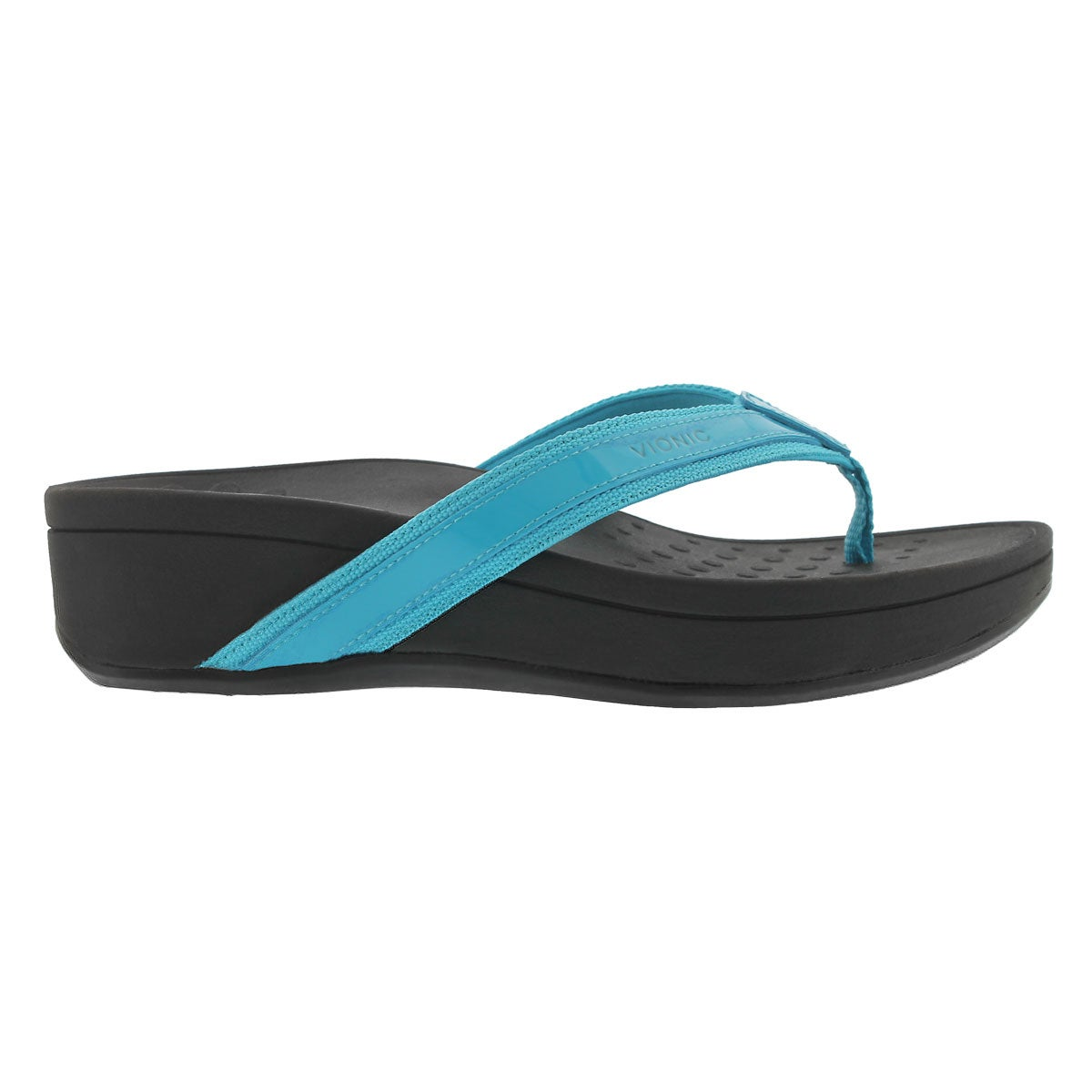 Lds High Tide turq arch support wdg sndl
