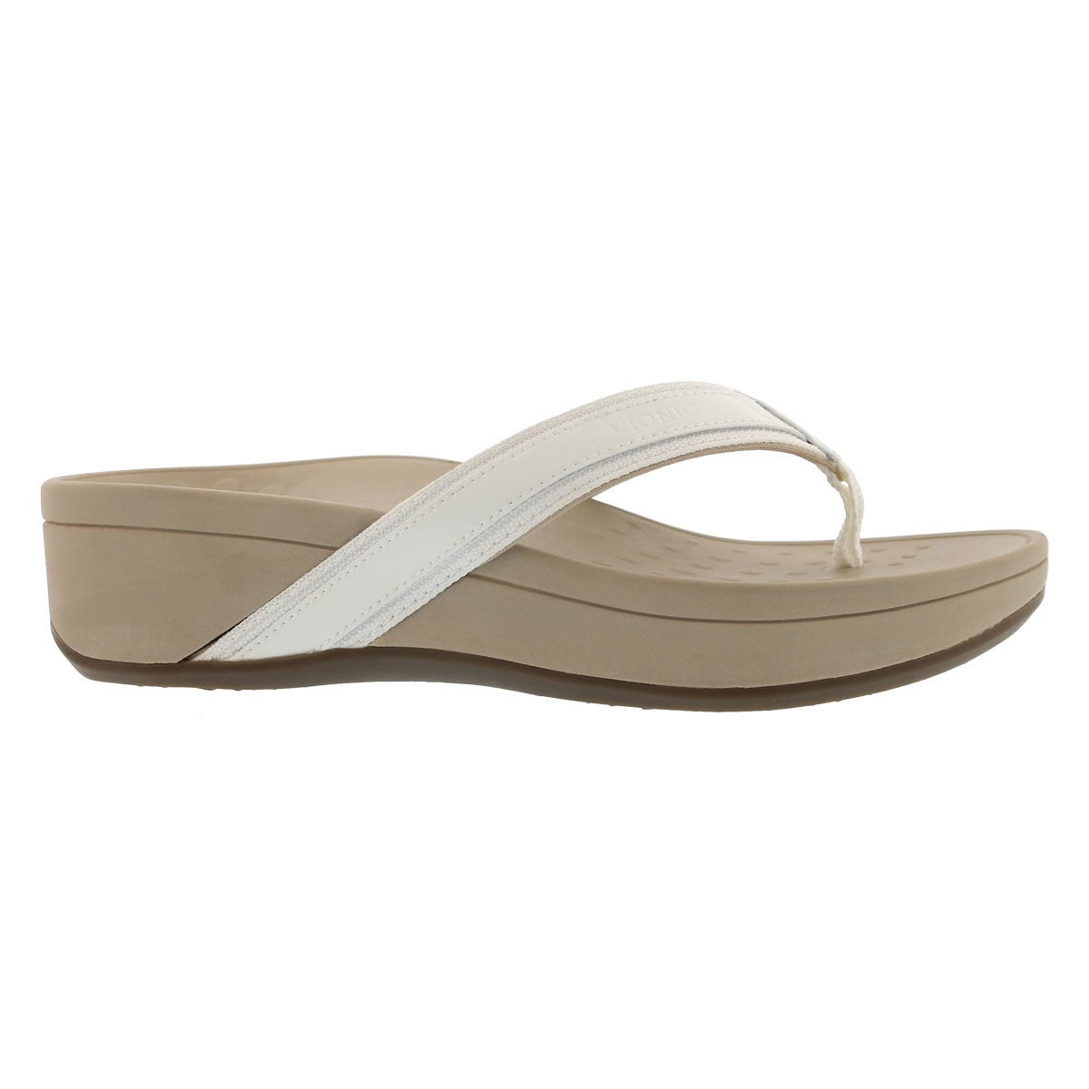 Lds High Tide wht arch support wdg sndl