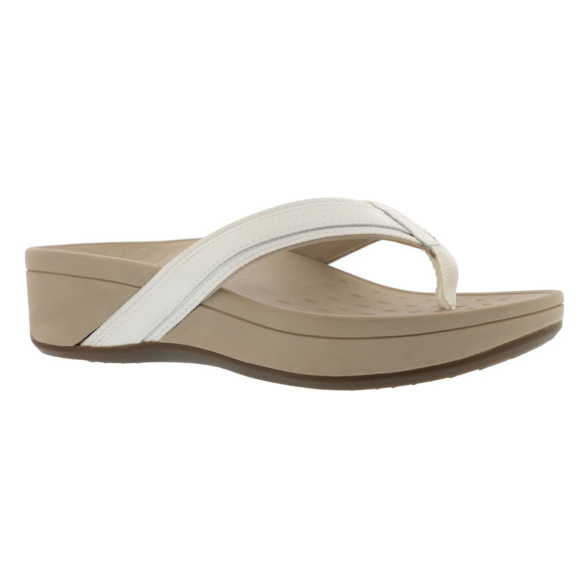 Women's HIGH TIDE white arch support wdg sandals