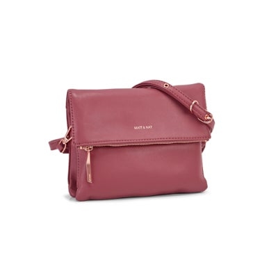 Lds Hiley rosewood flap over crossbody