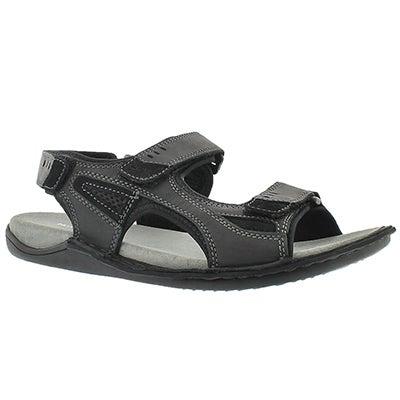 Mns Rawson Grady black 3 strap sandal