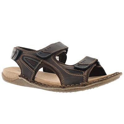 Mns Rawson Grady brn 3 strap sandal