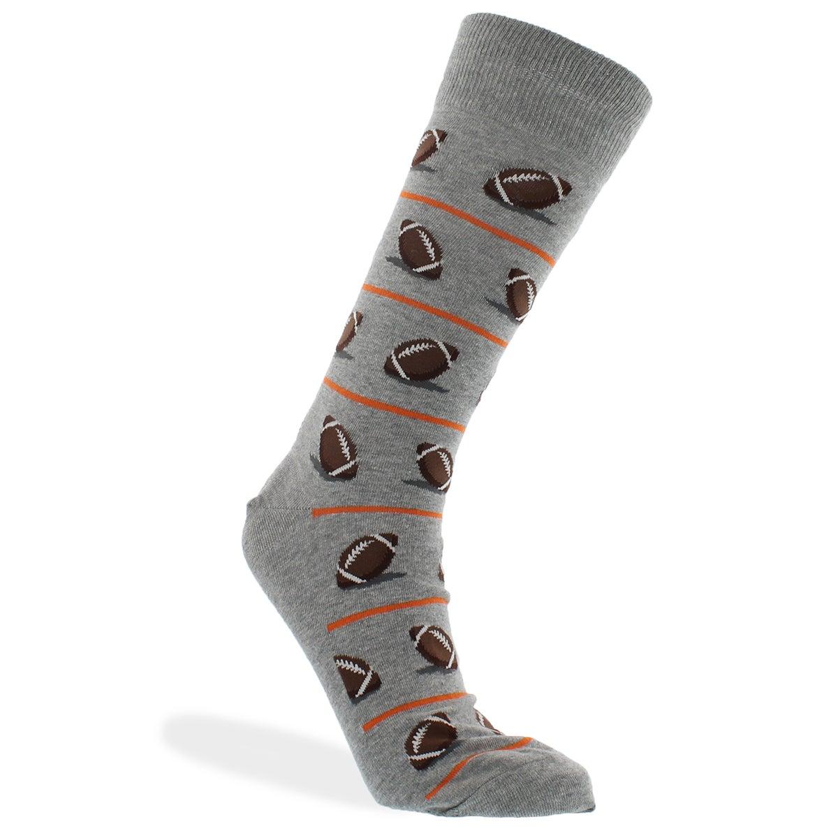 Mns Football grey printed sock