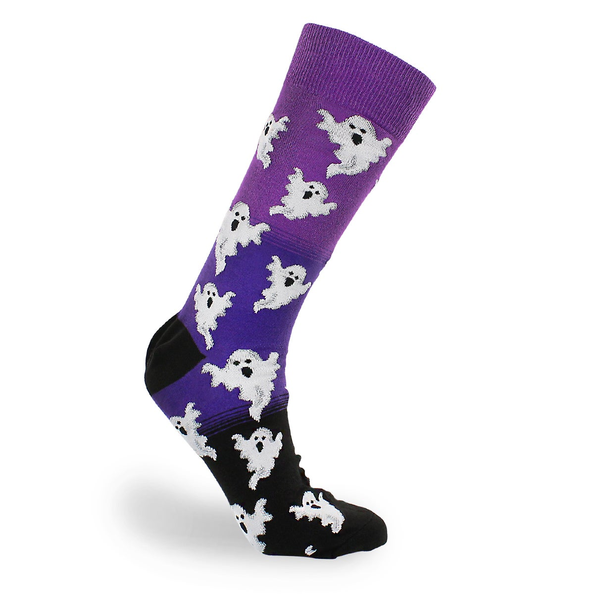 Mns Ghost purple printed sock