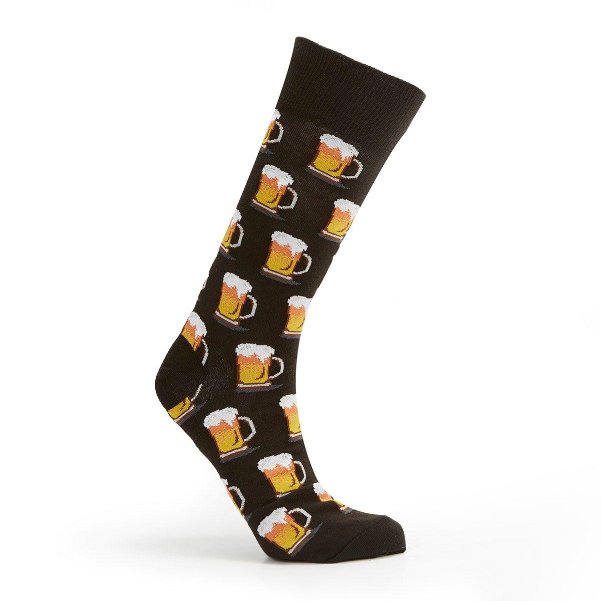 Mns Beer black printed sock