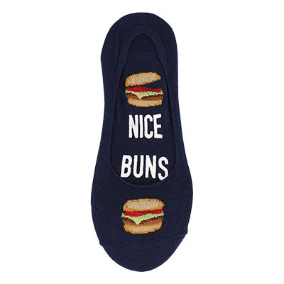 Hot Sox Men's NICE BUNS navy liner socks