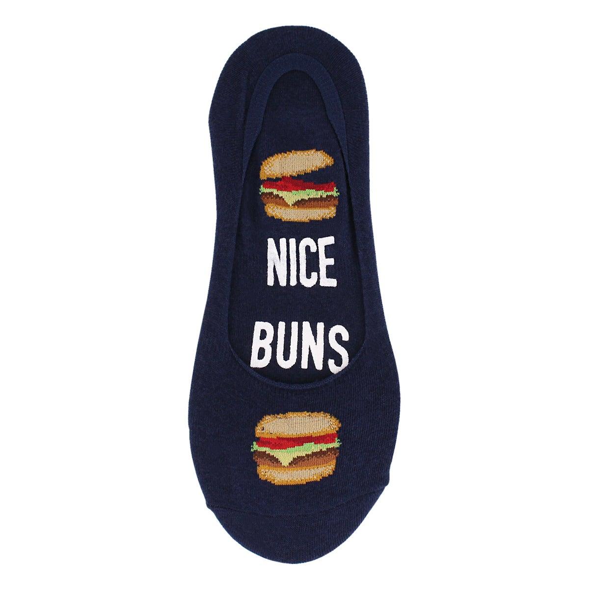 Men's NICE BUNS navy liner socks