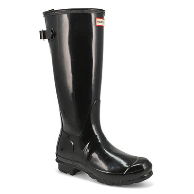 Hunter Women's ORIGINAL ADJUSTABLE GLOSS black rain boots