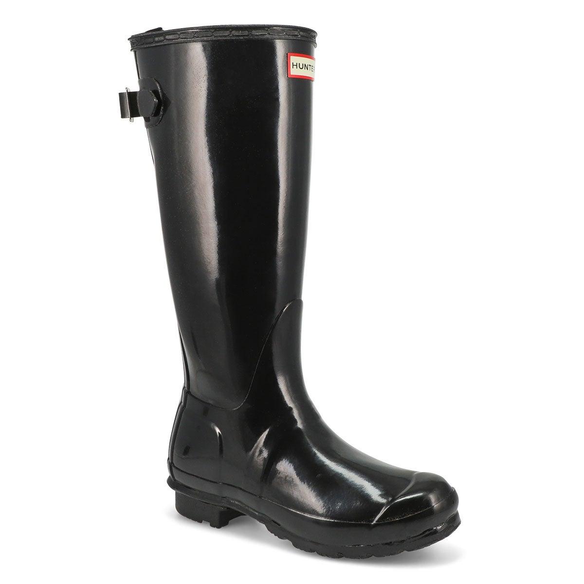Women's ORIGINAL ADJUSTABLE GLOSS black rain boots