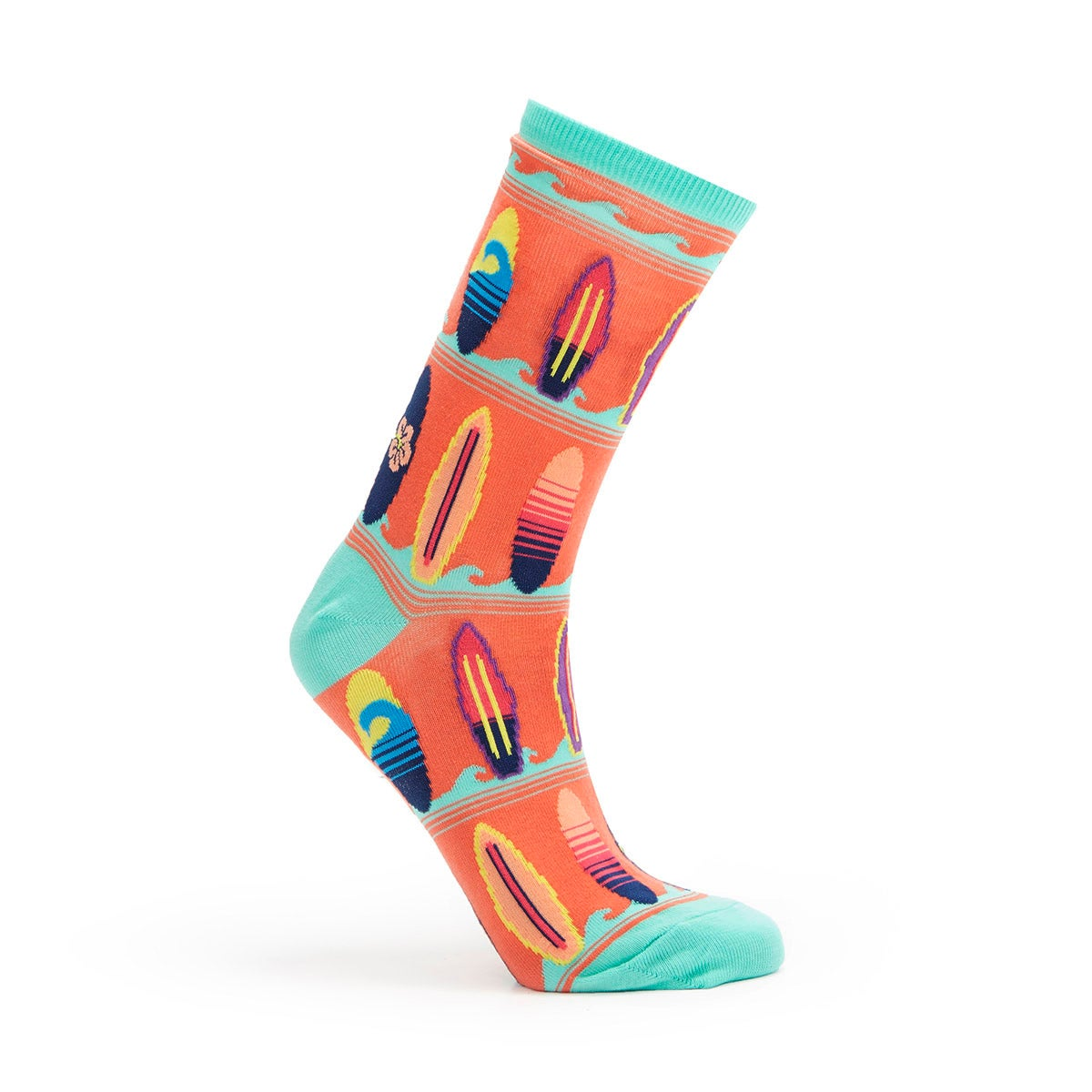Lds Surfboards coral printed sock
