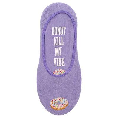 Lds Donut Kill My Vibe lavender liner
