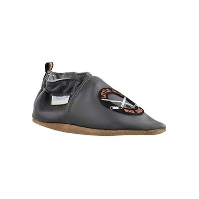 Robeez Infants' HOCKEY HUSTLE charcoal slippers