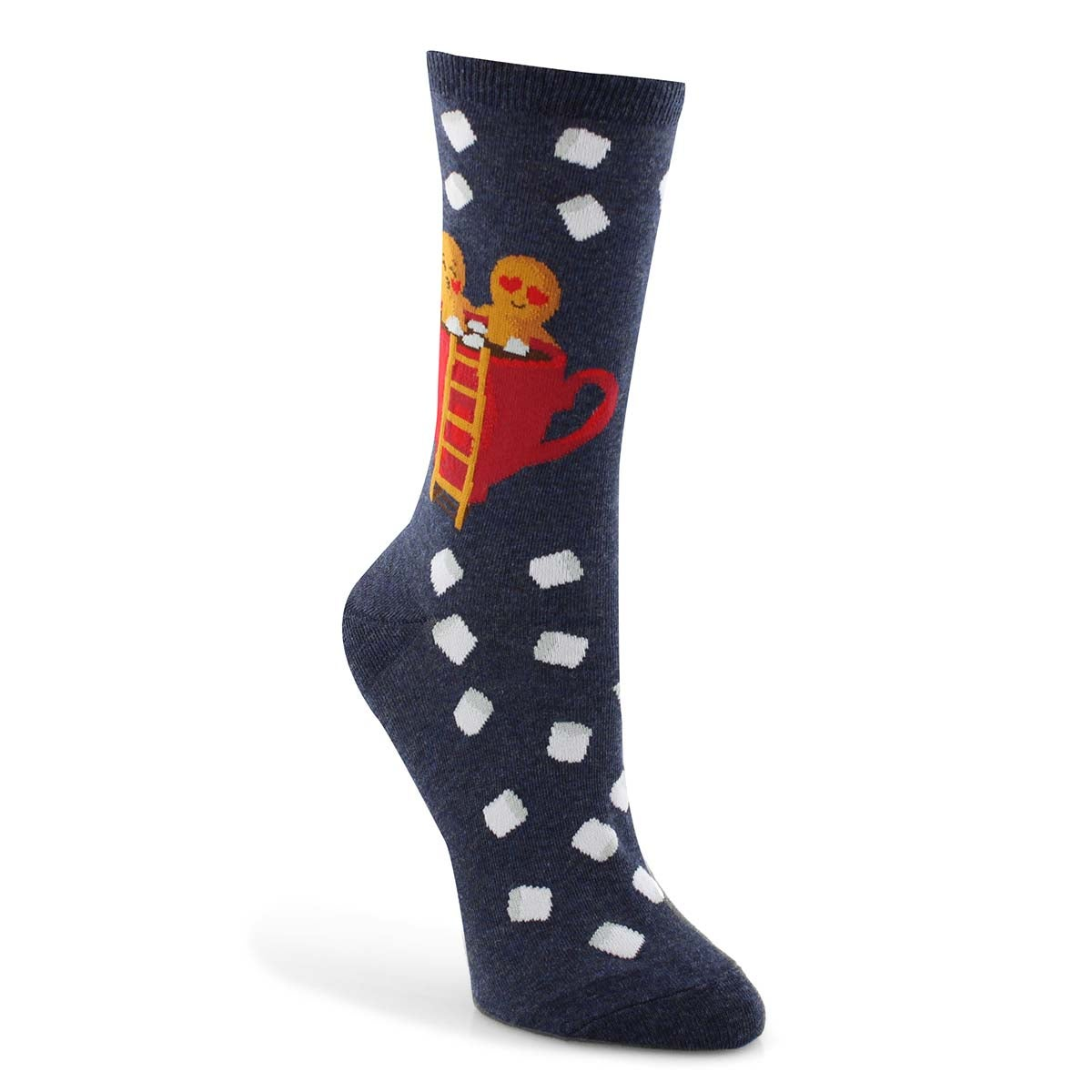Lds Gingerbread Couple dnm printed sock