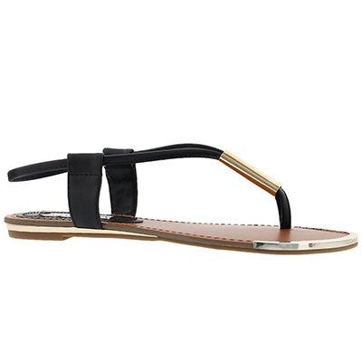 Lds Holland black t-strap thong sandal
