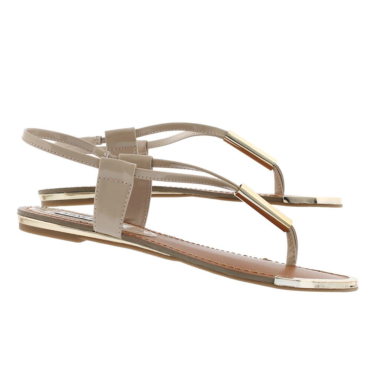 Lds Holland blush t-strap thong sandal