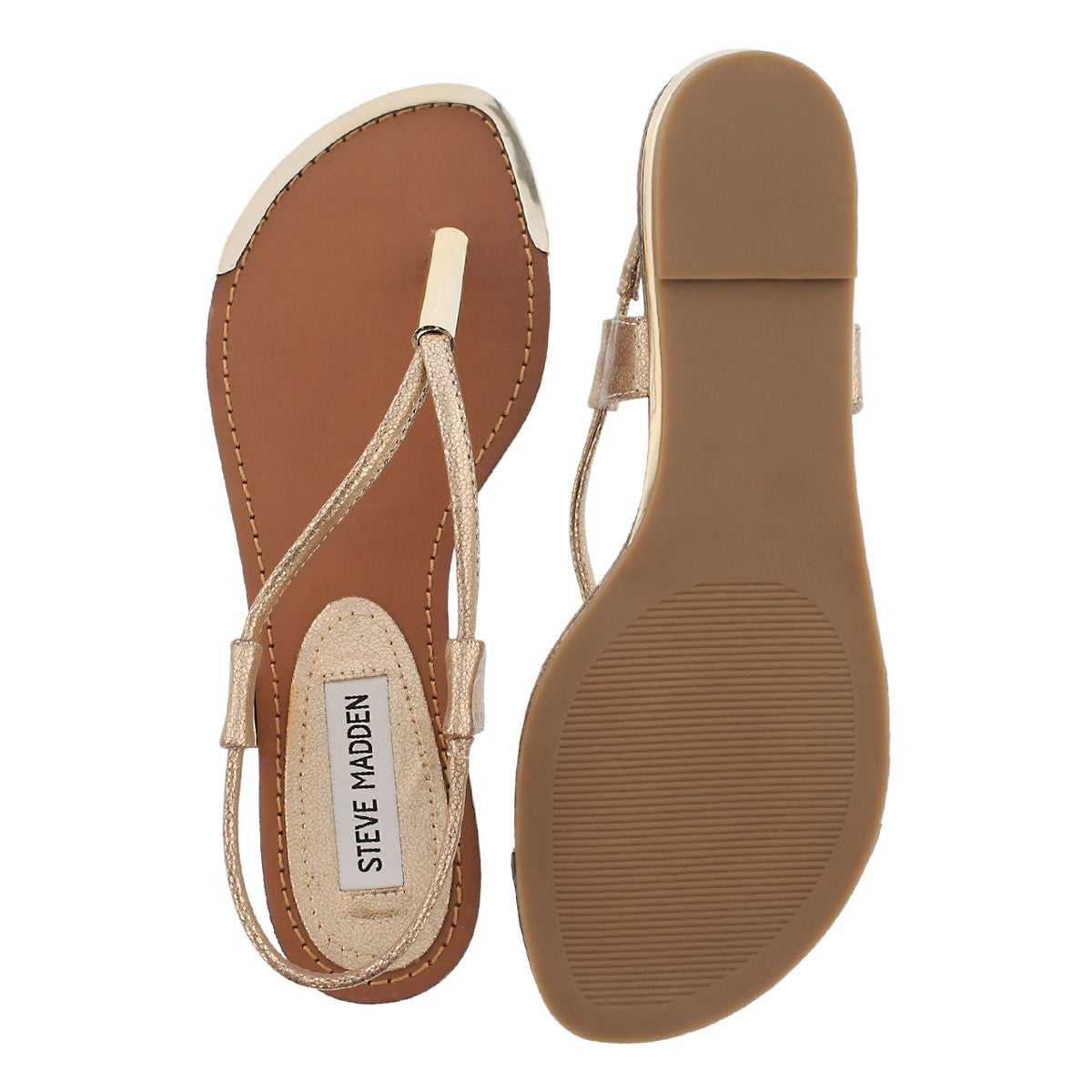 Lds Holland gold t-strap thong sandal