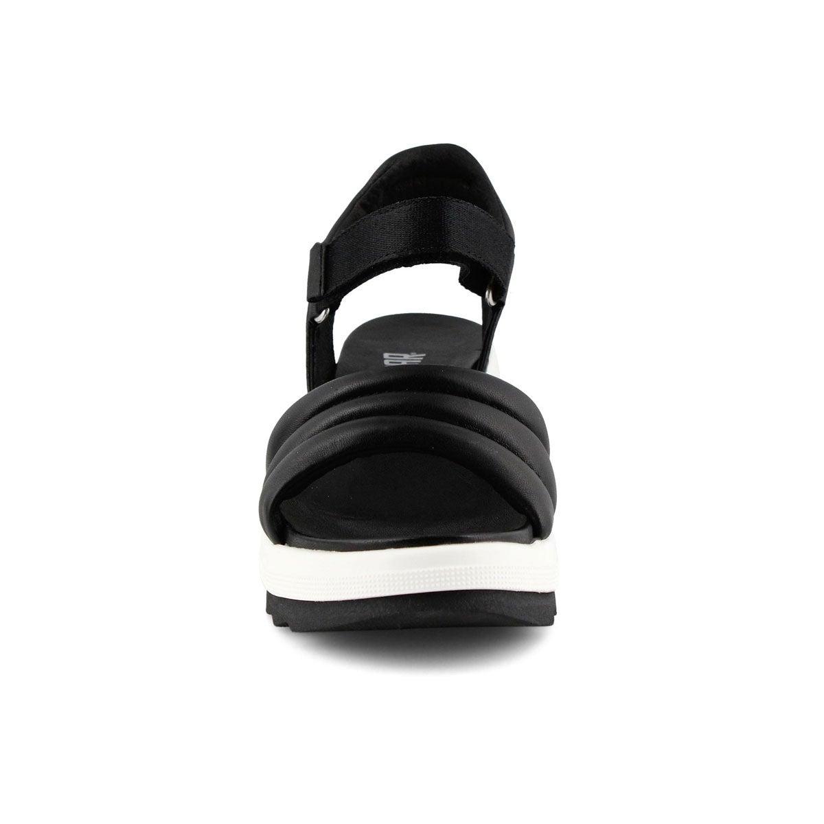 Lds Honey black wedge sandal