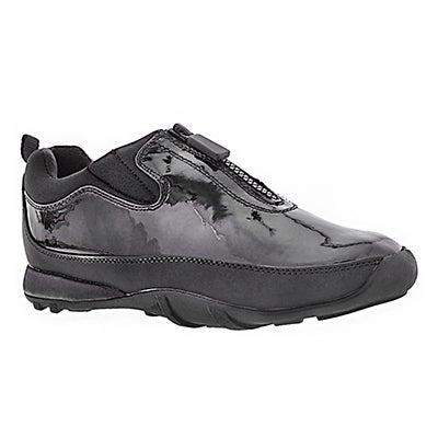 Cougar Women's HOWDOO black patent front zip rain shoes