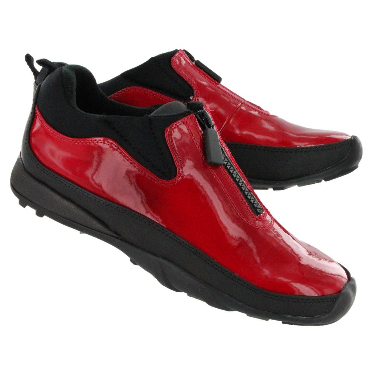 Chaussures pluie Howdoo, rge verni, fem