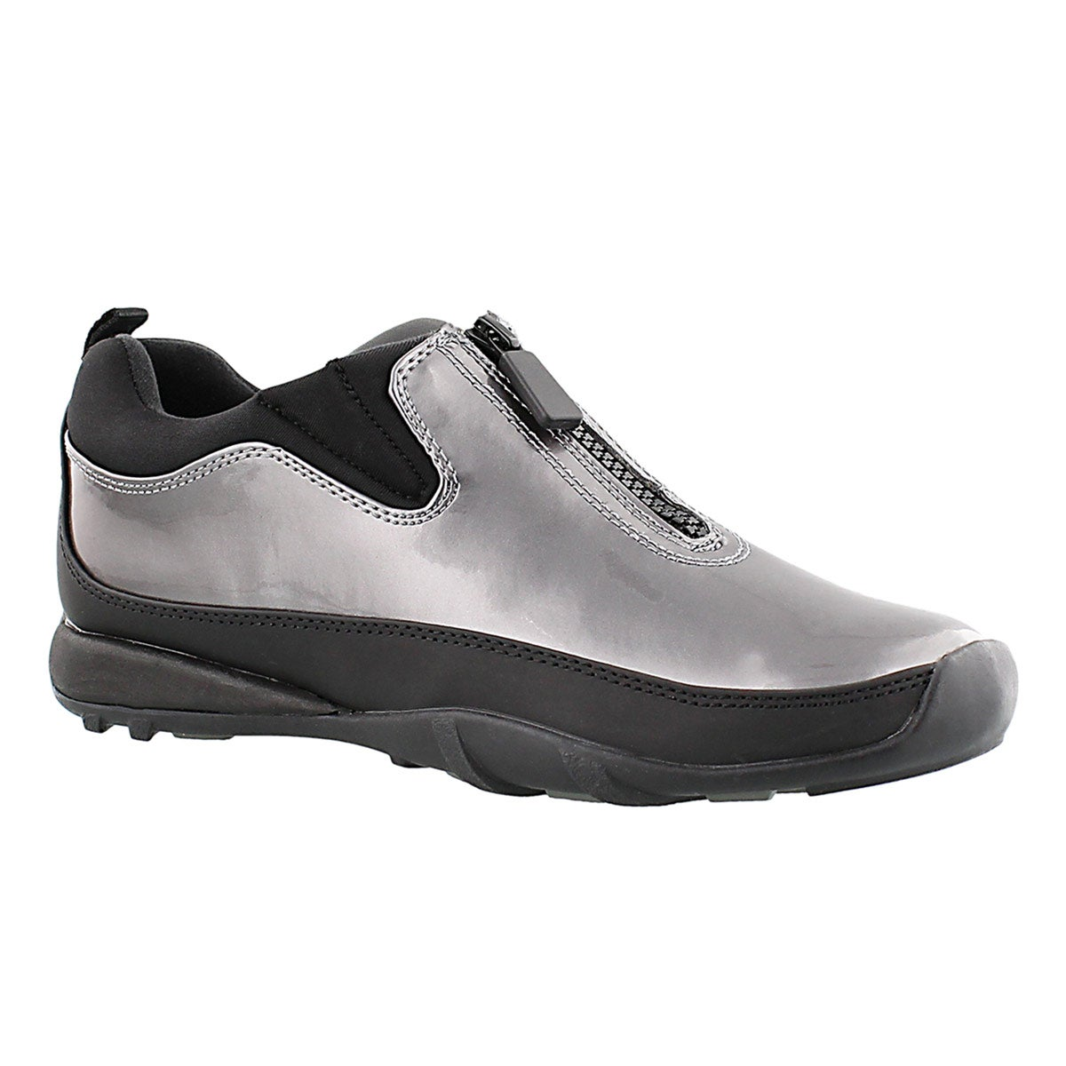 Women's HOWDOO pewter front zip rain shoes