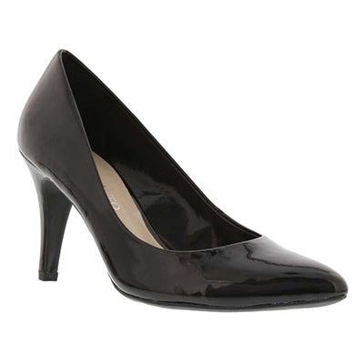 Franco Sarto Women's HOWIE black patent dress pumps
