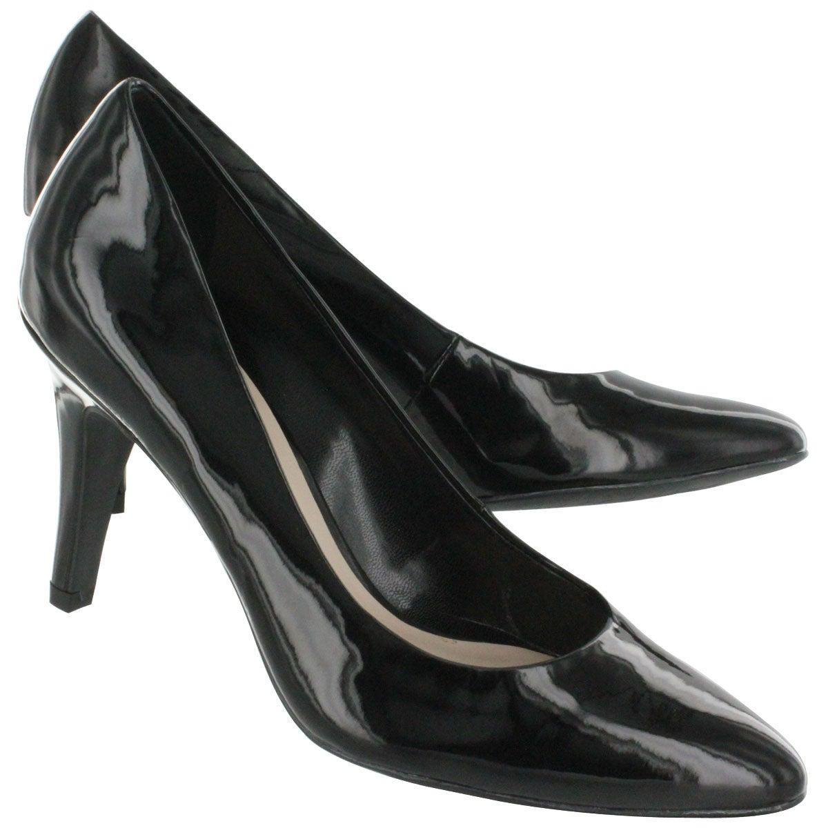 Lds Howie black patent dress pump