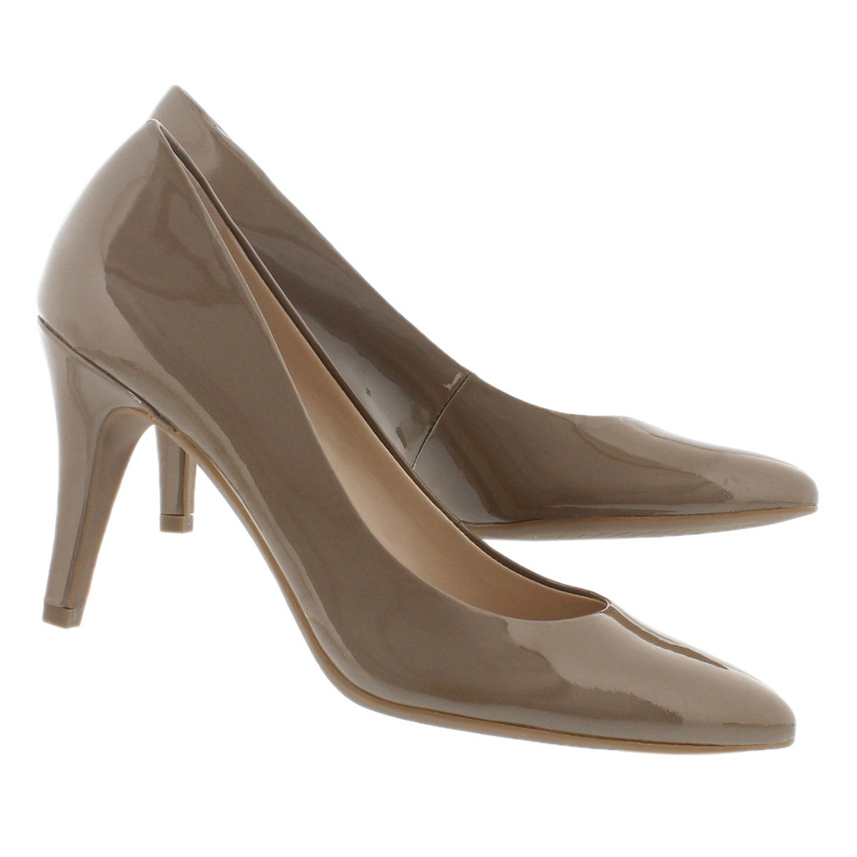 Lds Howie taupe patent dress pump