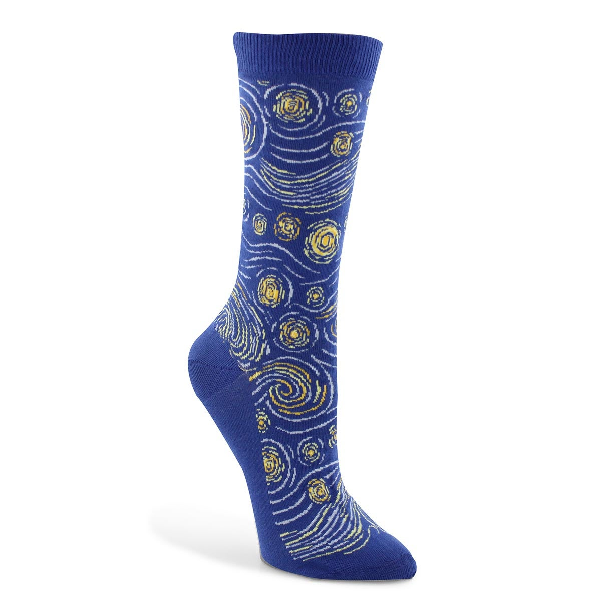 Lds Starry Night Mash Up blu prntd sock