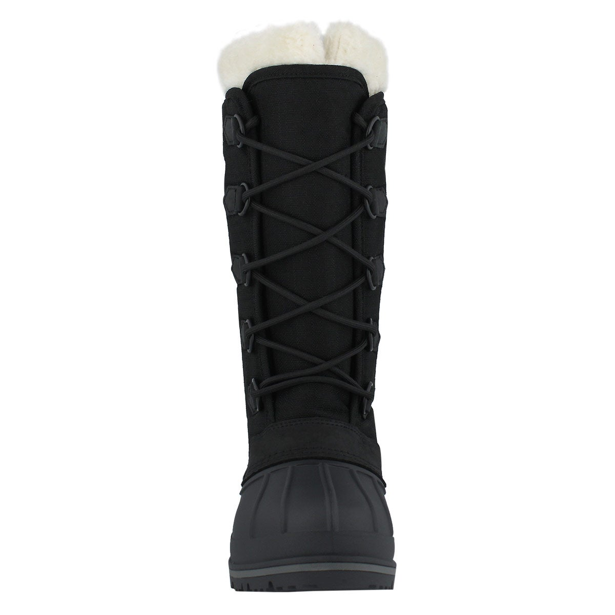 Lds Ottawa blk wtpf lace up wntr boot