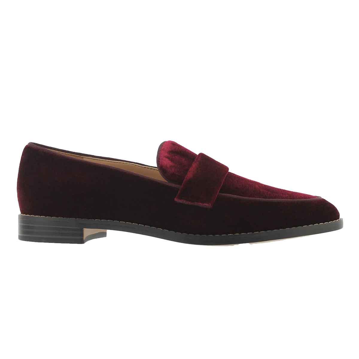 Lds Hudley burgundy casual slip on shoe