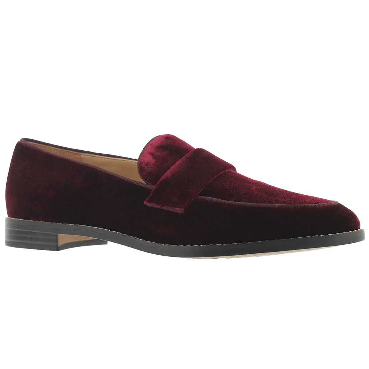 Women's HUDLEY burgundy casual slip on shoes