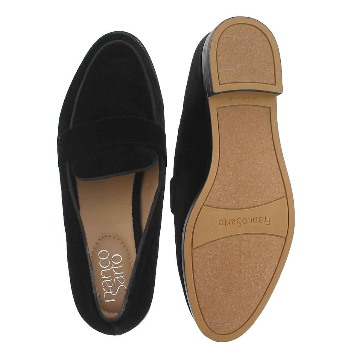 Lds Hudley black casual slip on shoe