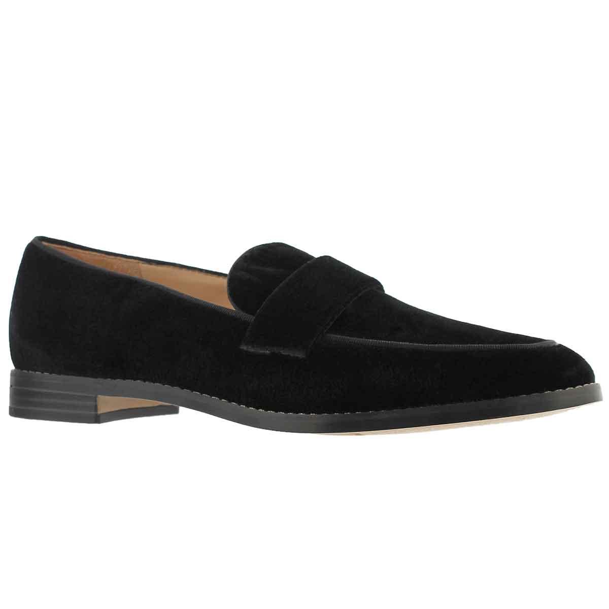 Women's HUDLEY black casual slip on shoe